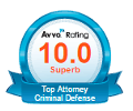 Top 10 AVVO Rating - Criminal Defense Attorney