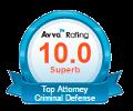 Top 10 AVVO Rating - Criminal Defense Attorney